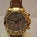 Rolex DAYTONA ORO GIALLO PELLE MOTHER OF PERL