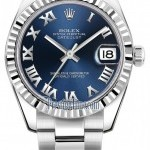 Rolex 178274 Blue Roman Oyster  Datejust 31mm Stainless