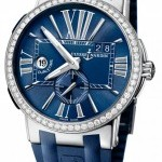 Ulysse Nardin 243-00b-343  Executive Dual Time 43mm Mens Watch