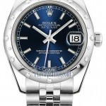 Rolex 178344 Blue Index Jubilee  Datejust 31mm Stainless