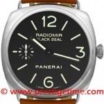 Panerai Pam00183  Radiomir Base Black Seal Mens Watch