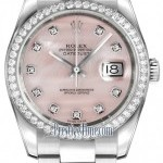Rolex 116244 Pink MOP Diamond Oyster  Datejust 36mm Stai