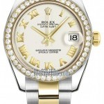 Rolex 178383 White Roman Oyster  Datejust 31mm Stainless