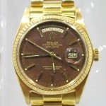 Rolex Day Date 1803 Or Jaune 18k Cadran Marron Chocolat