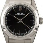 Rolex Used  MidSize Datejust 67480 Black Dial