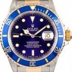 Rolex Mens  Submariner Steel  18K 16613