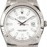 Rolex Mens  DateJust II 116334 White Dial