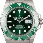 Rolex Used  116610V Green Anniversary Submariner