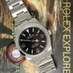 Rolex Explorer Stainless Steel Black Dial Automatic Mens