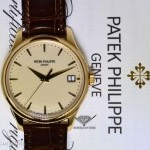 Patek Philippe Mens Calatrava 18k Gold Automatic Watch BoxPapers