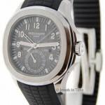 Patek Philippe Mens 5164 Aquanaut Travel Time Steel Watch BoxPape