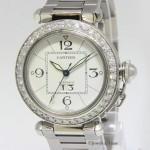 Cartier Pasha Stainless Steel Diamond Bezel 35mm Ladies Au