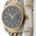 Rolex Ladies Datejust 68273 18K Gold  SS Automatic