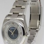 Rolex Oyster Perpetual Steel Mens Automatic Watch NEW Bo
