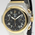 Hublot MDM Chronograph 18k Yellow GoldSteel Black Dial Me
