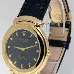 Rolex Cellini 18k Gold Quartz Grey Jubilee Dial Deployan
