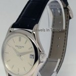 Patek Philippe Calatrava 18k White Gold Mens Watch BoxPapers 5127