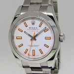 Rolex Milgauss Stainless Steel White Dial Automatic Mens