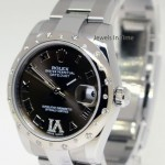 Rolex 31mm Midsize Datejust 18k White Gold  Steel  Diamo