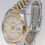 Rolex Datejust 18k Yellow Gold  Steel Mens Automatic Wat