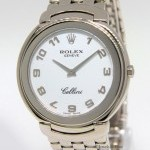 Rolex Cellini 18k White Gold White Dial 37mm Quartz Mens