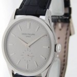 Patek Philippe Calatrava 5196 18k White Gold Mens Watch BoxPapers