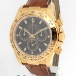 Rolex Daytona Chronograph 116518 P 18k Yellow Gold Mens