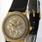 Audemars Piguet Vintage Skeleton 18k Gold  Lapis Mens Watch  Box S