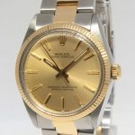 Rolex Oyster Perpetual No Date 18k Yellow Gold Stainless