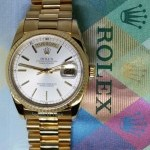 Rolex Day Date President 18k Yellow Gold Mens Watch  Box