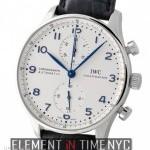 IWC Chronograph Steel Silver Dial Blue Arabics