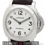 Panerai Luminor Base 44mm Stainless Steel White Arabic Dia