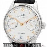 IWC Automatic 7-Day Power Reserve Silver Arabic Dial