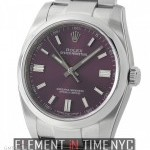 Rolex 36mm Stainless Steel No-Date Red Grape Dial