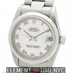 Rolex Mid-Size 31mm Stainless Steel White Roman Dial D S