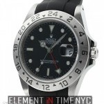 Rolex Stainless Steel 40mm Black Dial On Rubber B P Seri