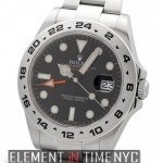 Rolex Stainless Steel Black Dial 42mm