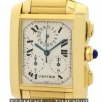 Cartier Tank Francaise Chronograph 18k Yellow Gold 28mm