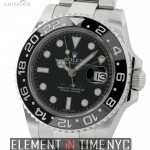 Rolex Ceramic Stainless Steel Black Dial 40mm 2010