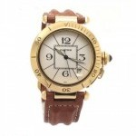 Cartier Pasha Automatic 1990 18K Gold Date Unisex Watch W
