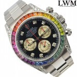 Rolex Daytona 116509 modified 116599 RBOW Rainbow white