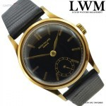 Patek Philippe Calatrava 96 black enamel dial yellow gold 18KT ve
